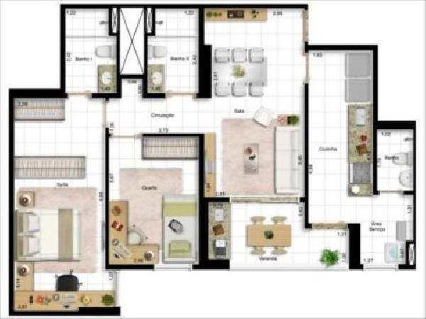 Art Life Design - Planta 2 quatos 82m²